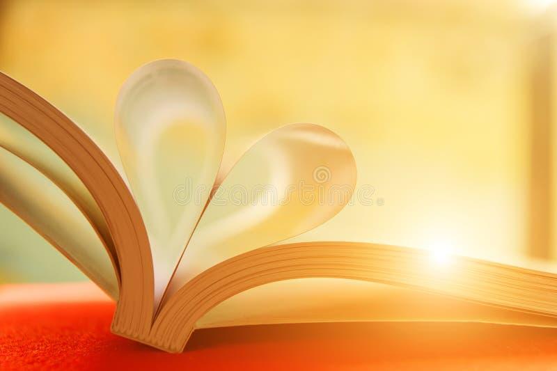 Cuore con le pagine del libro immagine stock libera da diritti