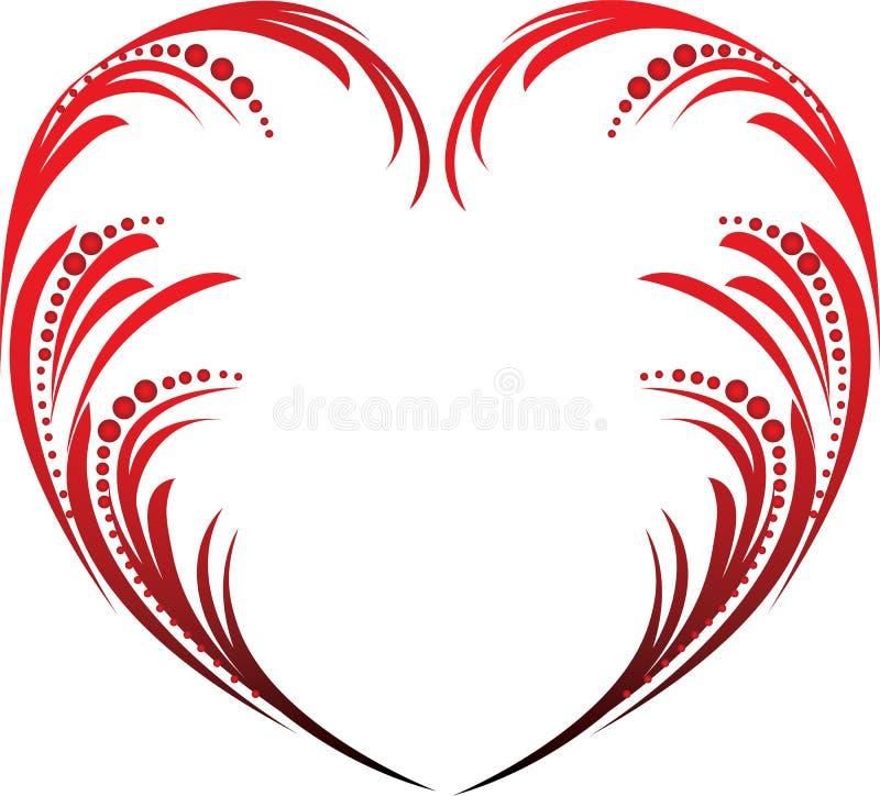 Cuore dei biglietti di S. Valentino illustrazione di stock