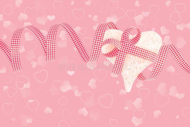 Cuore dei biglietti di S. Valentino immagine stock libera da diritti