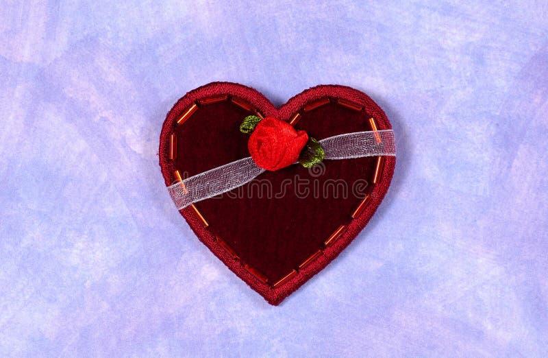 Cuore dei biglietti di S. Valentino immagini stock libere da diritti