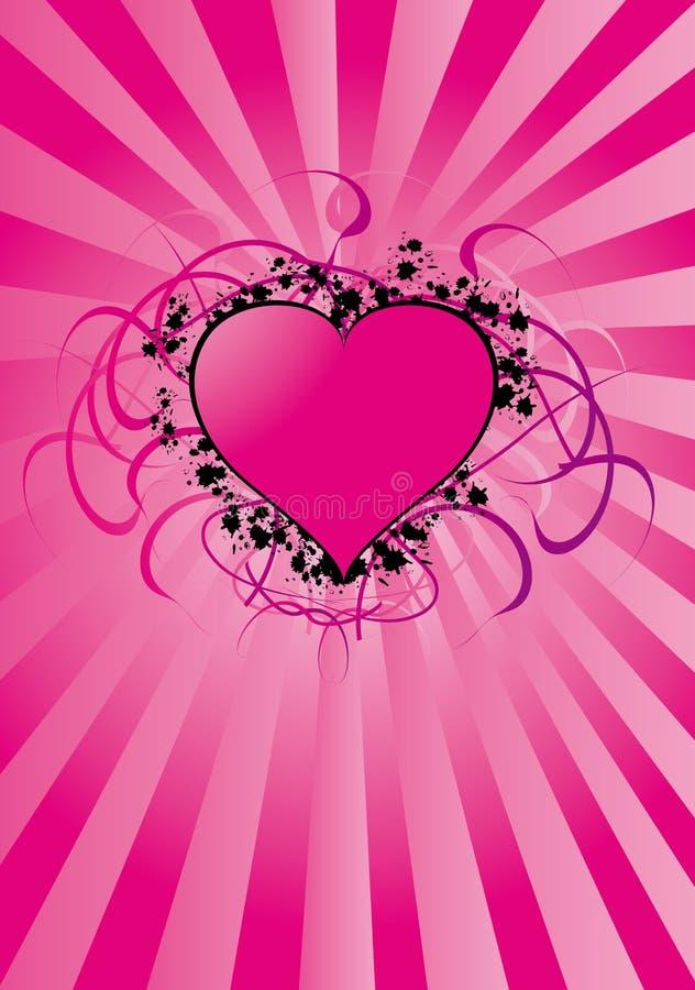 Cuore dei biglietti di S. Valentino illustrazione vettoriale