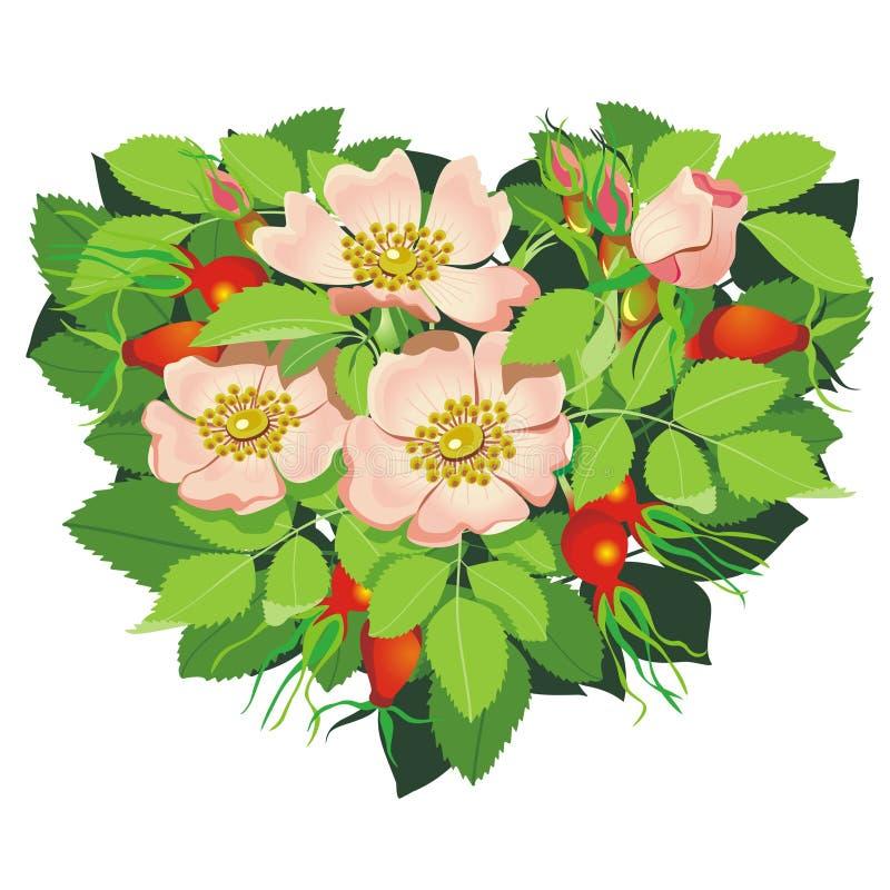 Cuore dei fiori illustrazione vettoriale