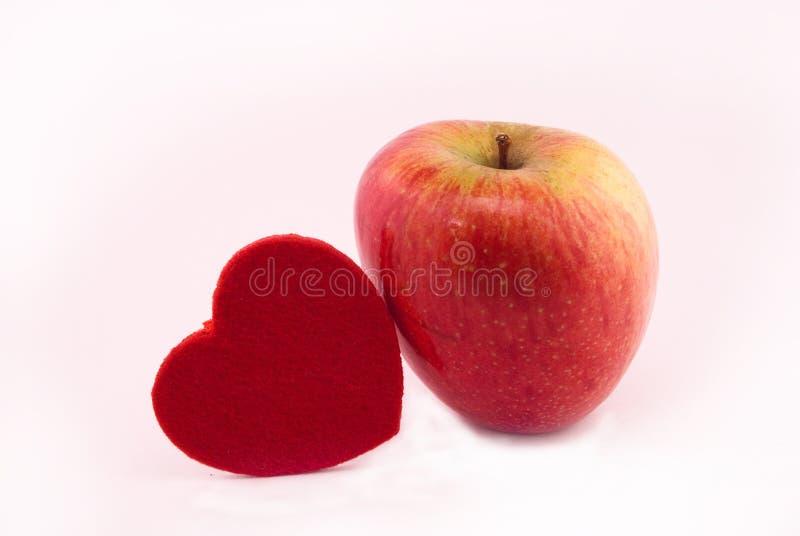 Cuore del Apple fotografie stock libere da diritti