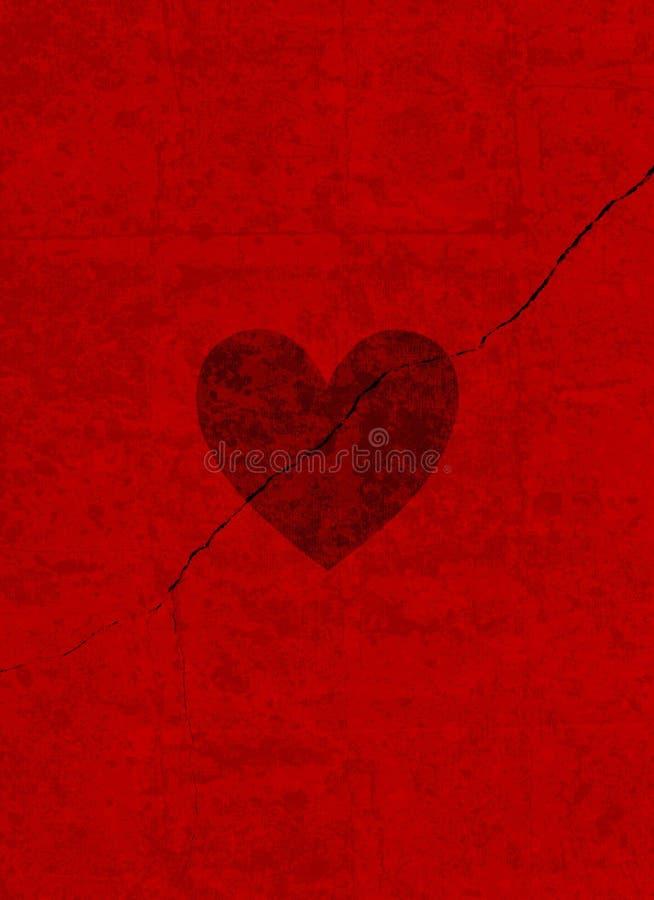 Cuore del biglietto di S. Valentino di Grunge immagine stock libera da diritti