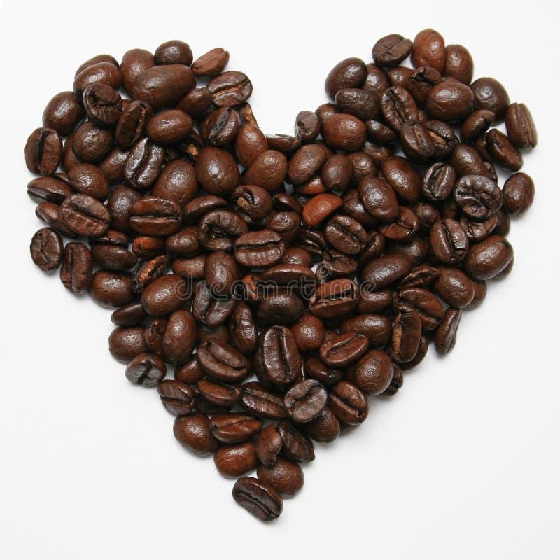 Cuore del caffè fotografie stock libere da diritti