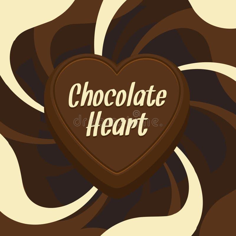 Cuore del cioccolato illustrazione di stock