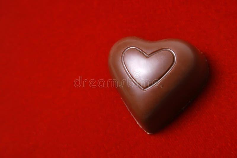 Cuore del cioccolato immagine stock libera da diritti
