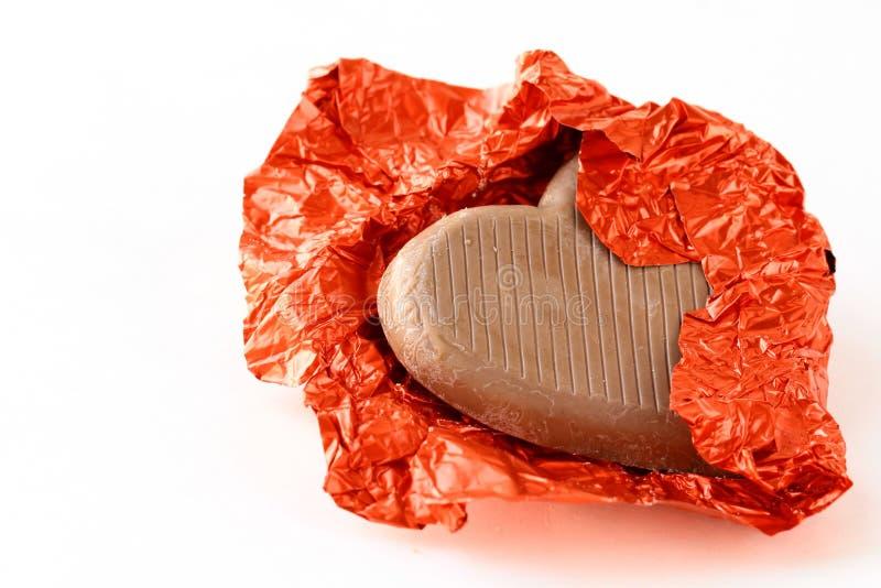 Cuore del cioccolato per il giorno del biglietto di S. Valentino immagini stock libere da diritti