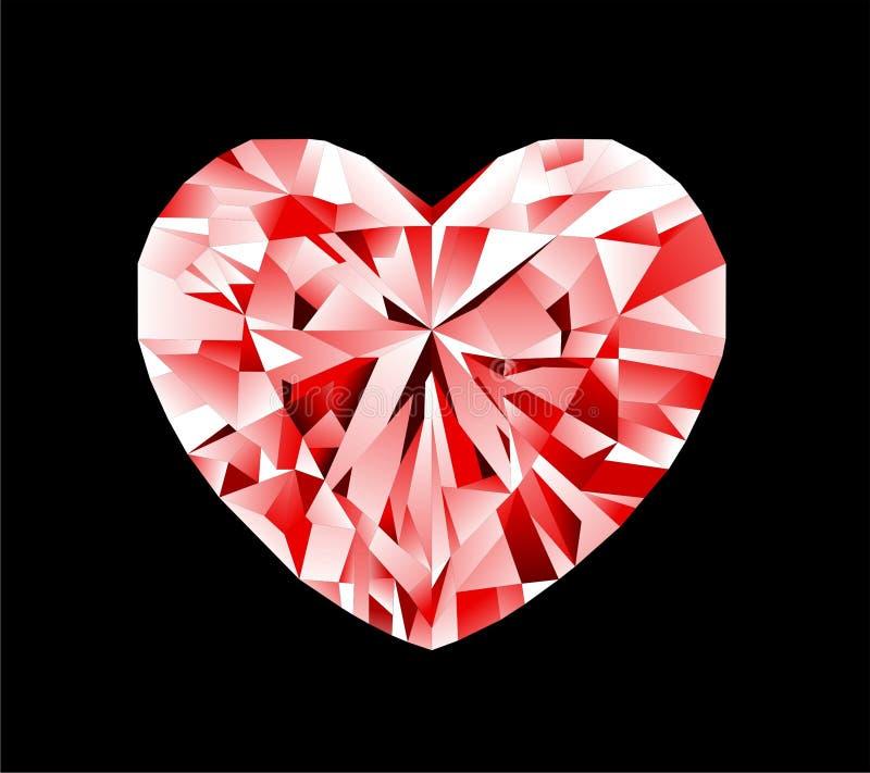 Cuore del diamante immagini stock libere da diritti