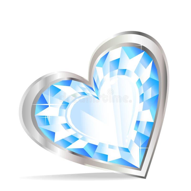 Cuore del diamante illustrazione di stock