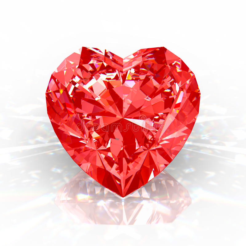 Cuore del diamante illustrazione di stock