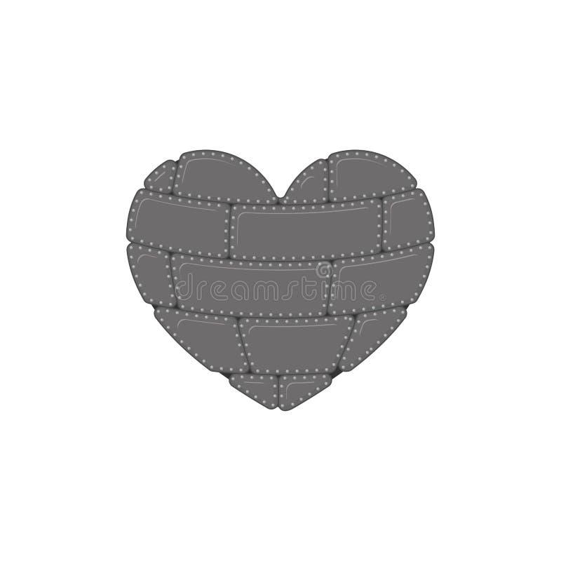 Cuore del ferro isolato Organo interno del metallo acciaio illustrazione vettoriale