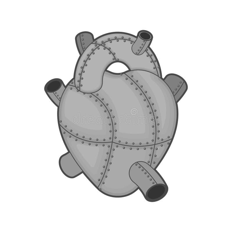 Cuore del ferro isolato Organo interno del metallo acciaio royalty illustrazione gratis