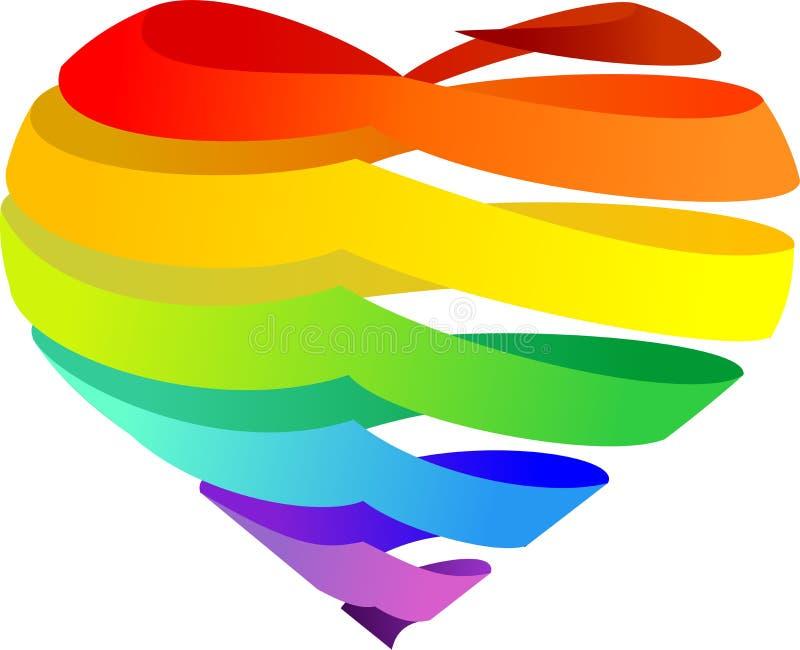 Cuore del Rainbow illustrazione vettoriale