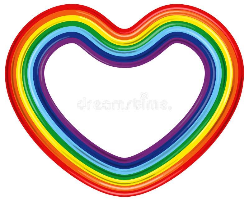 Cuore del Rainbow isolato. Illustrazione di vettore illustrazione vettoriale