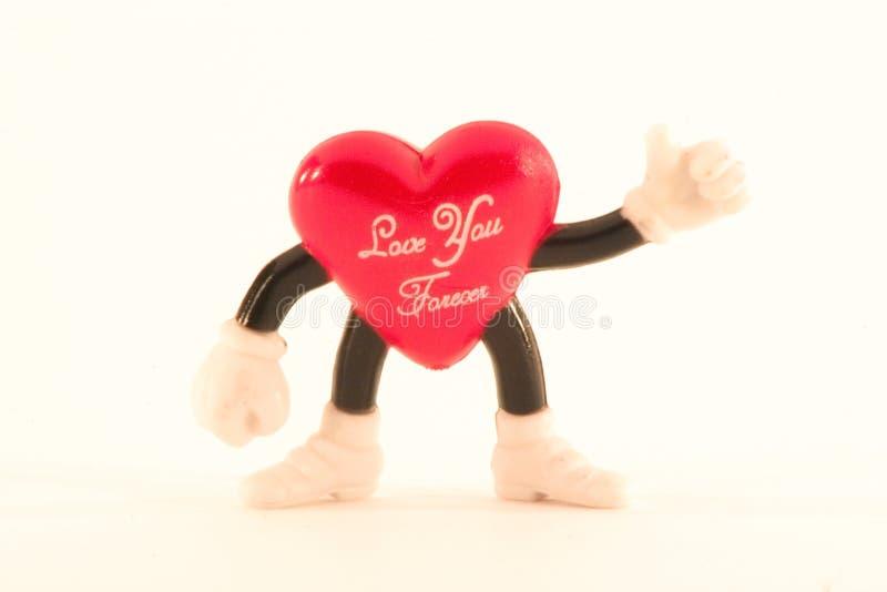 cuore del St-biglietto di S. Valentino fotografie stock libere da diritti