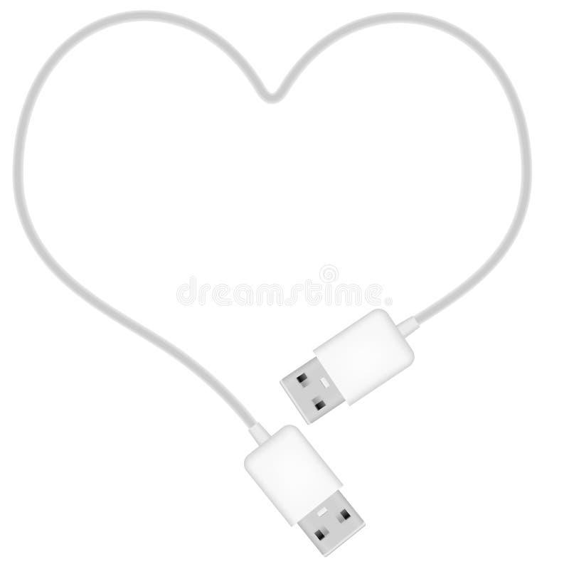 Cuore del USB royalty illustrazione gratis