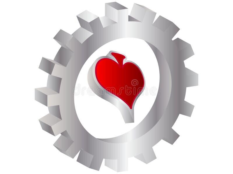 Download Cuore Dell'elemento Del Casinò Illustrazione Vettoriale - Illustrazione di elementi, randello: 7308124