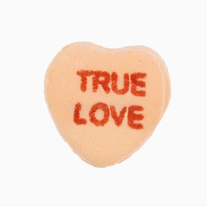 Cuore della caramella su bianco. immagine stock libera da diritti