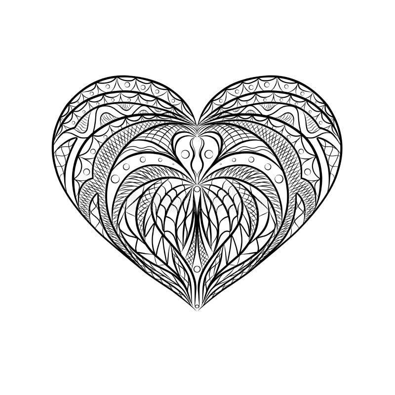 Cuore della mandala royalty illustrazione gratis