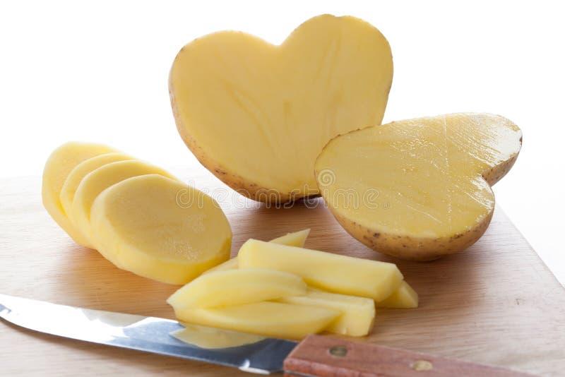 Cuore della patata fotografie stock libere da diritti