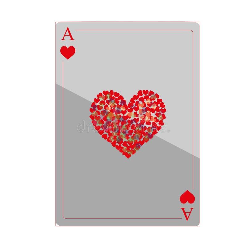 Cuore delle carte da gioco immagini stock libere da diritti