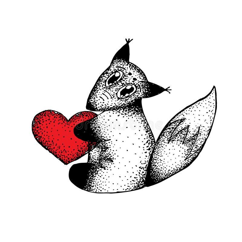 Cuore dello scoiattolo fotografie stock