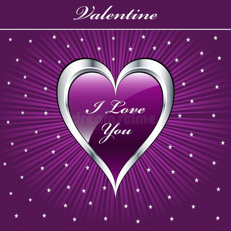Cuore di amore del biglietto di S. Valentino royalty illustrazione gratis