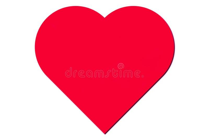 Cuore di colore rosso del biglietto di S. Valentino royalty illustrazione gratis