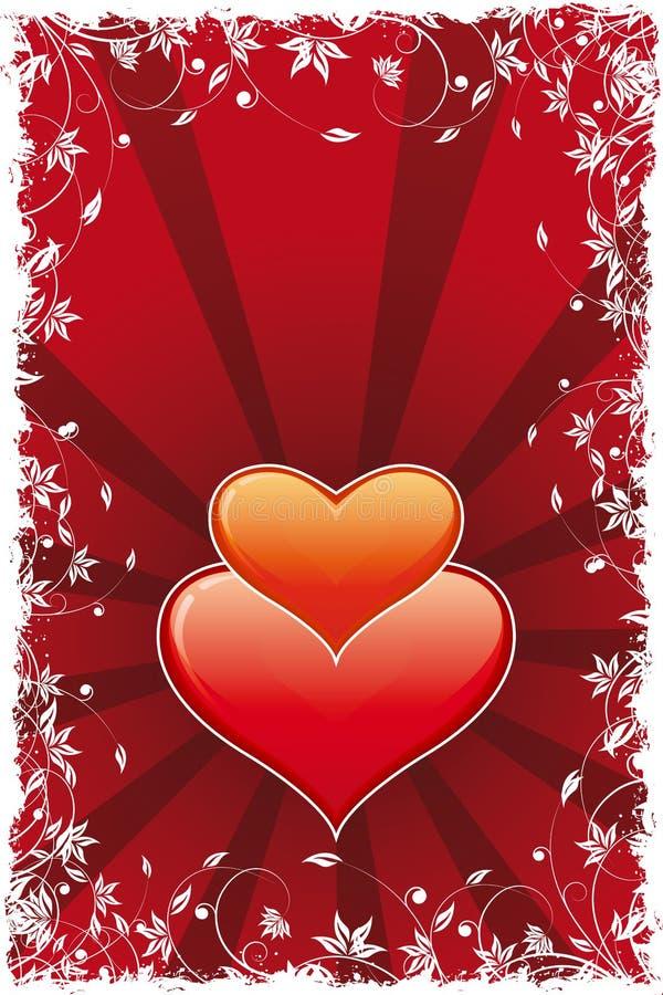 Download Cuore Di Giorno Del Biglietto Di S. Valentino Astratto Illustrazione Vettoriale - Illustrazione di siluetta, icona: 7323850