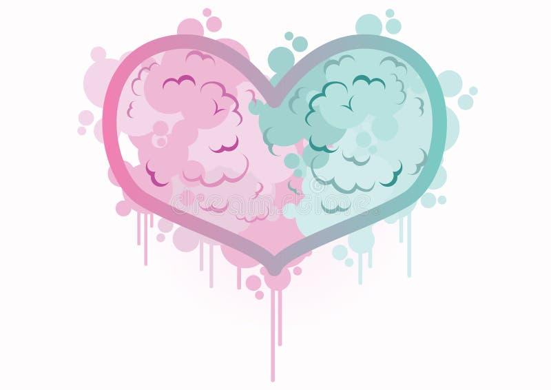 Cuore di giorno di biglietti di S. Valentino, nell'amore immagini stock