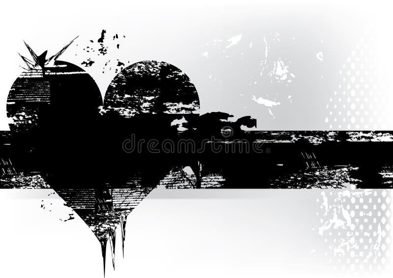 Cuore di Grunge royalty illustrazione gratis