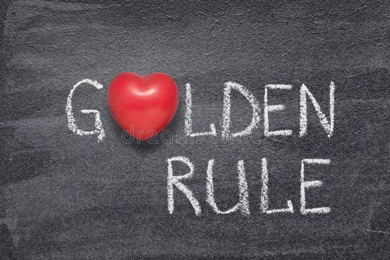 Cuore di regola d'oro fotografie stock