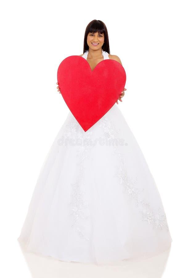 Cuore di rosso della sposa fotografie stock libere da diritti