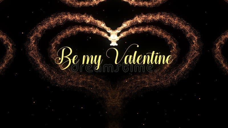 Cuore di San Valentino fatto della spruzzata del vino rosso isolata su fondo nero Sia il mio amore della parte del biglietto di S immagine stock
