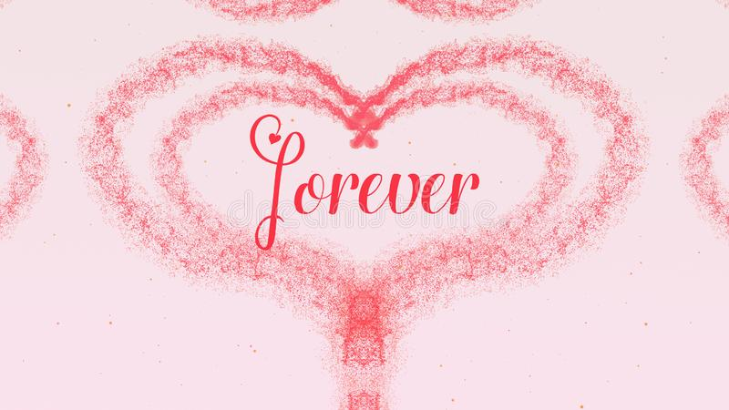 Cuore di San Valentino fatto della spruzzata del vino rosso isolata su fondo rosa-chiaro Per sempre divida insieme l'amore immagini stock libere da diritti