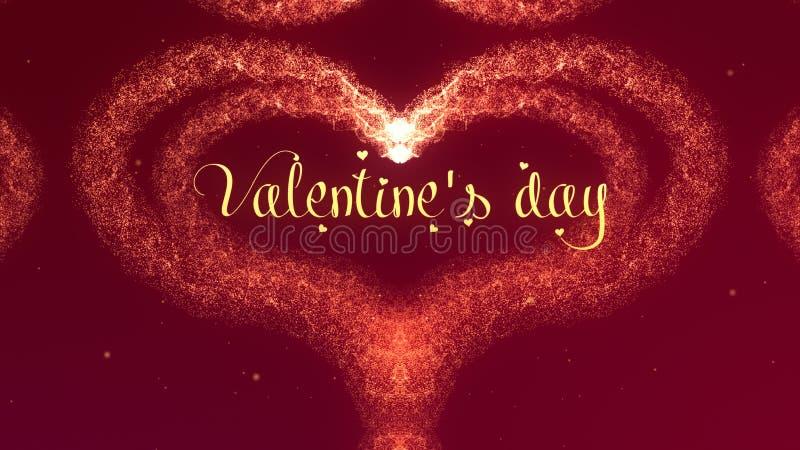 Cuore di San Valentino fatto della spruzzata del vino rosso isolata su fondo rosso Sia il mio amore della parte del biglietto di  immagine stock libera da diritti