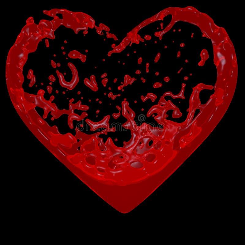 Cuore di sangue illustrazione vettoriale