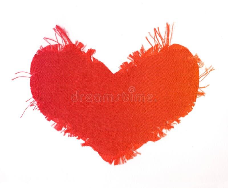 Cuore di seta del biglietto di S. Valentino immagine stock libera da diritti