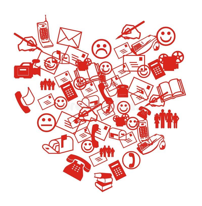 Cuore di SMS royalty illustrazione gratis