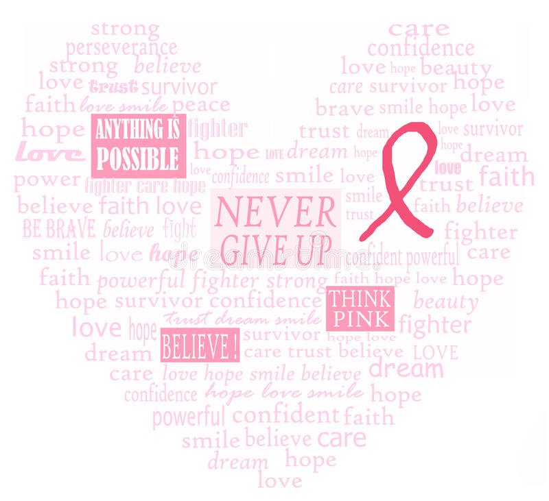 Cuore di sostegno del cancro della mammella royalty illustrazione gratis