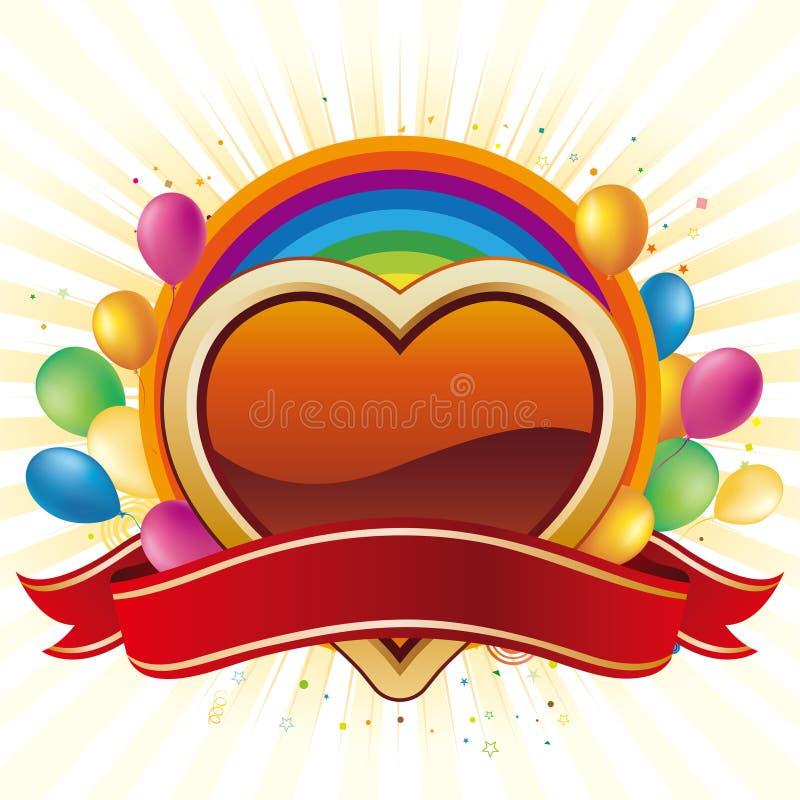 cuore e festa royalty illustrazione gratis