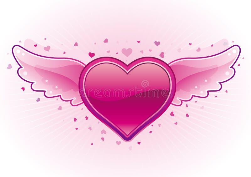 cuore ed ali illustrazione vettoriale