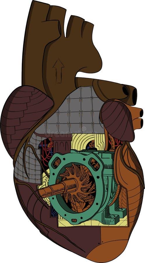 Cuore - fabbrica illustrazione di stock