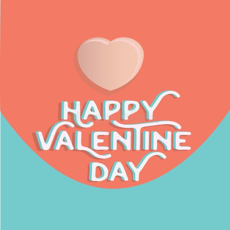 Cuore felice di giorno del ` s del biglietto di S. Valentino, accogliente il holid felice di giorno di S. Valentino immagine stock libera da diritti