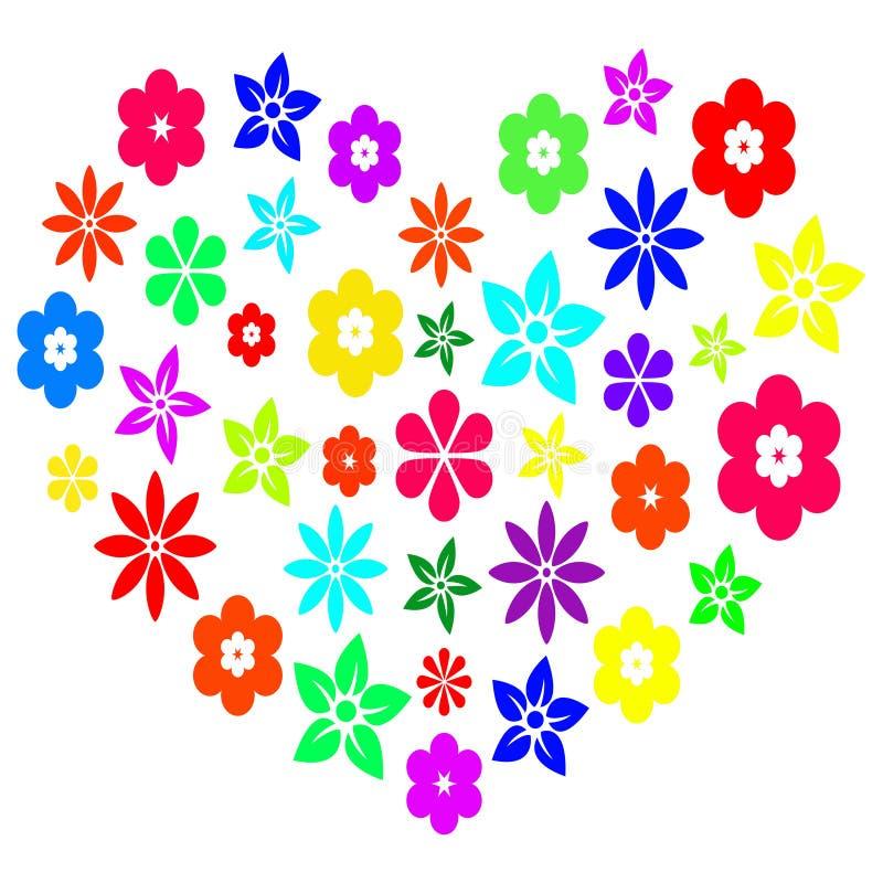 Cuore floreale variopinto fotografie stock libere da diritti