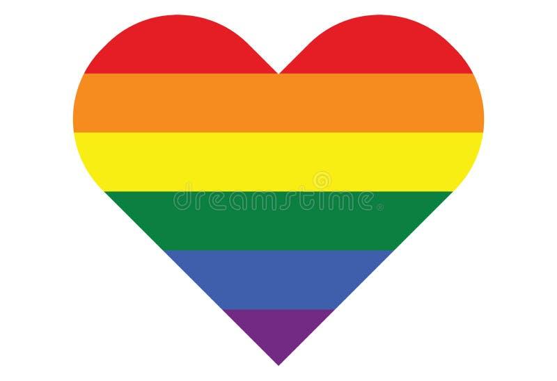 Cuore gay di simbolo dell'arcobaleno di LGBT royalty illustrazione gratis