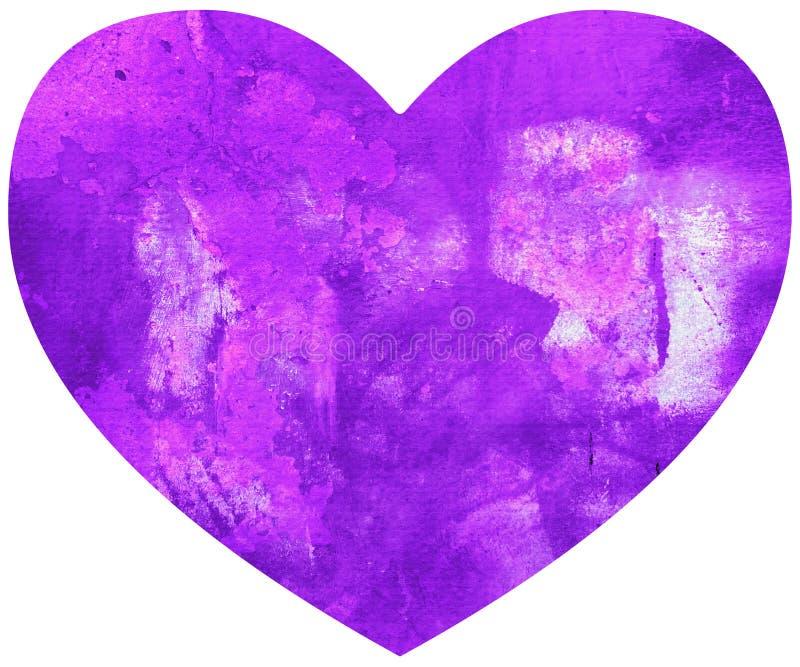 Cuore Grungy di amore di giorno di biglietti di S. Valentino illustrazione vettoriale