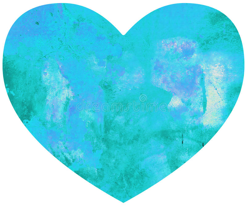 Cuore Grungy di amore di giorno di biglietti di S. Valentino illustrazione di stock