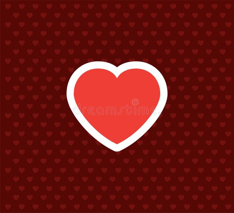 Cuore Icona di giorno del ` s del biglietto di S. Valentino Illustrazione di vettore di amore illustrazione di stock